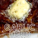 pinterest image for garlic herb butter