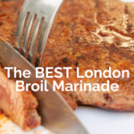 pinterest image for london broil marinade