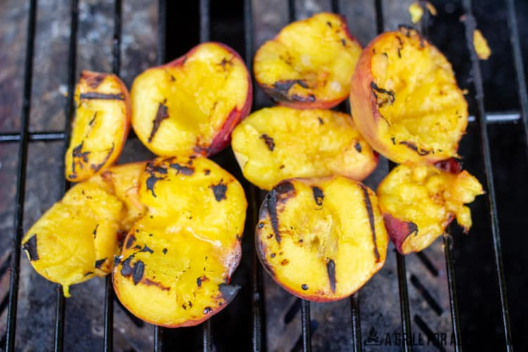 peached on grill