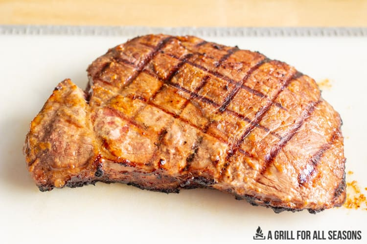 grilled steak with lines