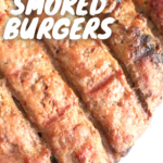 pinterest image for smoked turkey burgers