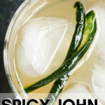 pinterest image for jalapeno simple syrup