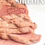 pinterest image for smoked sirloin steak