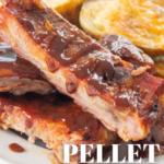 pinterest image for pellet grill ribs