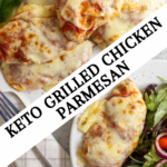 pinterest image for grilled chicken parmesan