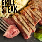 pinterest image for pellet grill steak