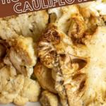 pinterest image for smoked cauliflower