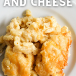 pinterest image for smoked mac and cheese