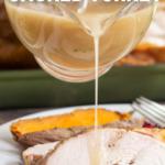 pinterest image for traeger smoked turkey