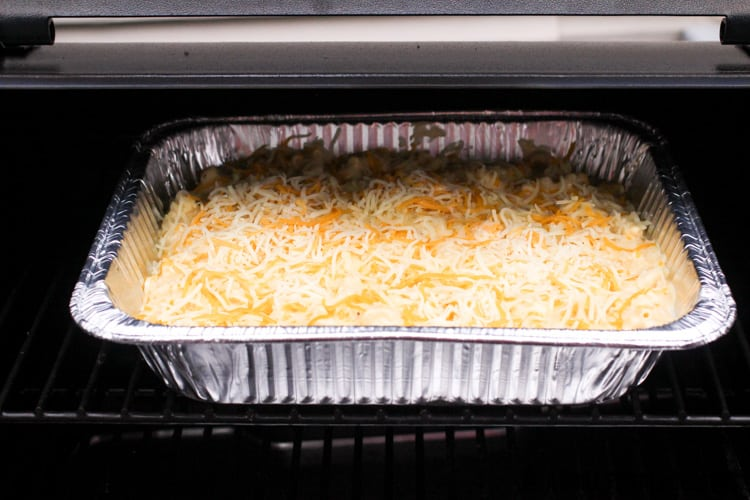 mac and cheese in traeger grill