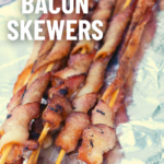 pinterest image for bacon on a stick