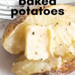 pinterest image for traeger baked potatoes