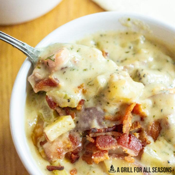 gluten free potato soup close up